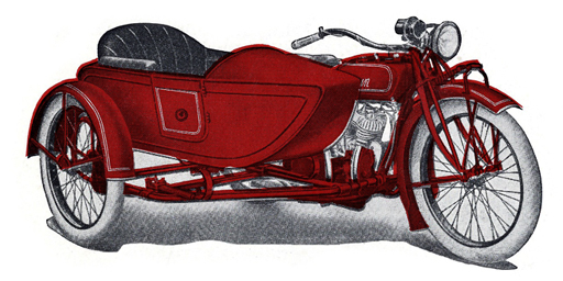 1924 Indian Big Chief with Princess Side Car