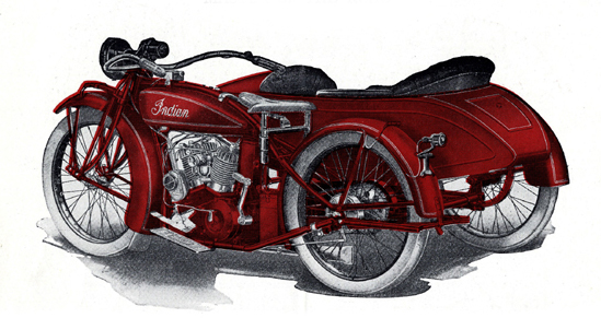 Big Chief Indian Motorcycle vintage 1923